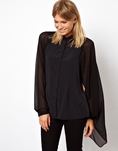 Long Sleeve Blouse Topshop 28