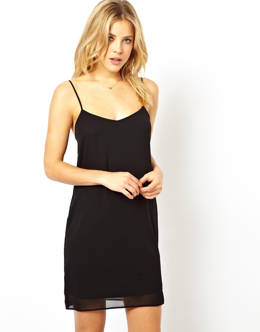 Lyst Asos Cami Slip Dress In Black