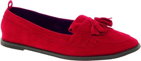 Asos Metro Loafers In Red - Lyst