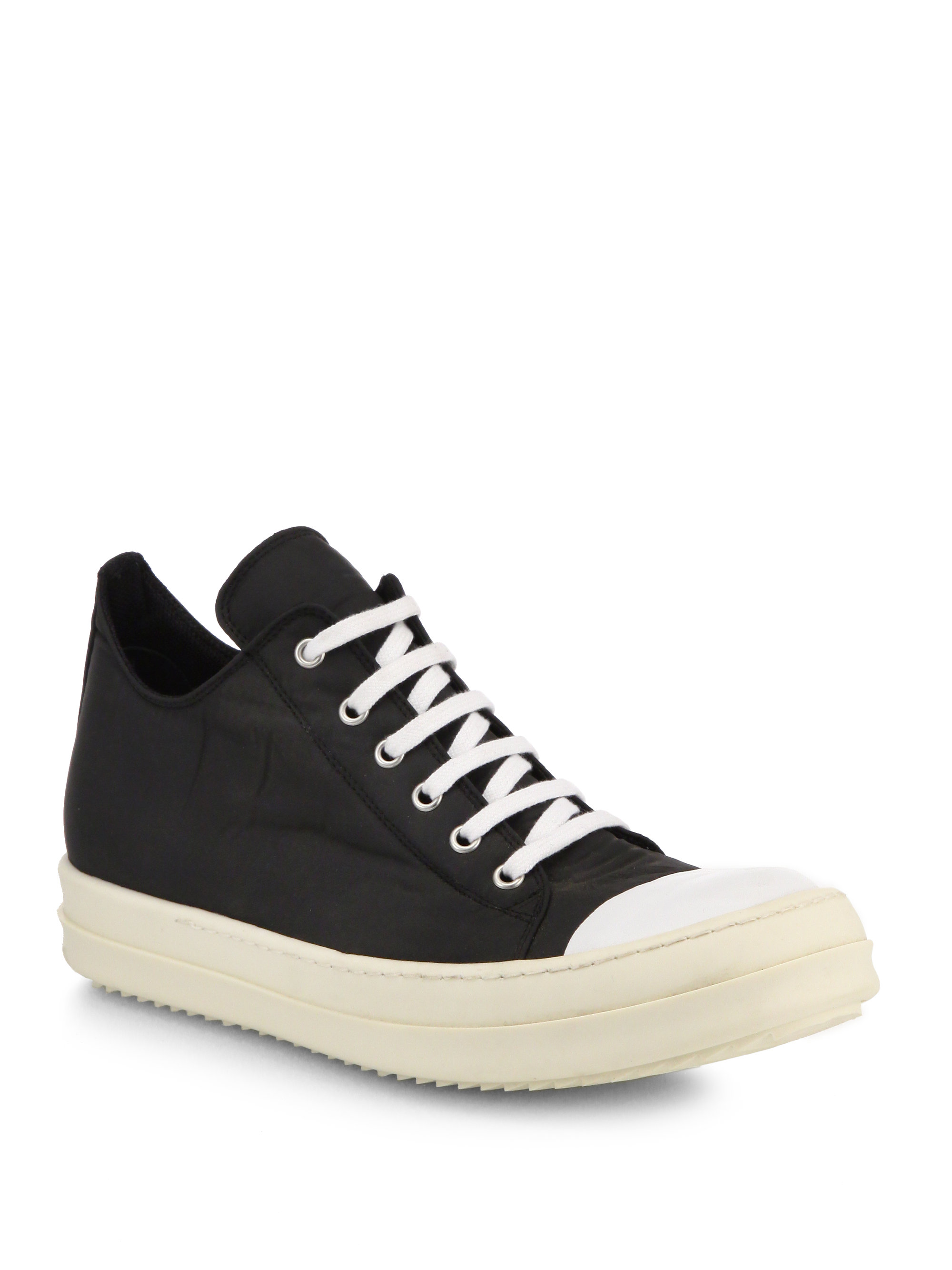 1442239e1853a4 Lyst - DRKSHDW by Rick Owens Ramones Canvas Lowtop Sneakers in Black