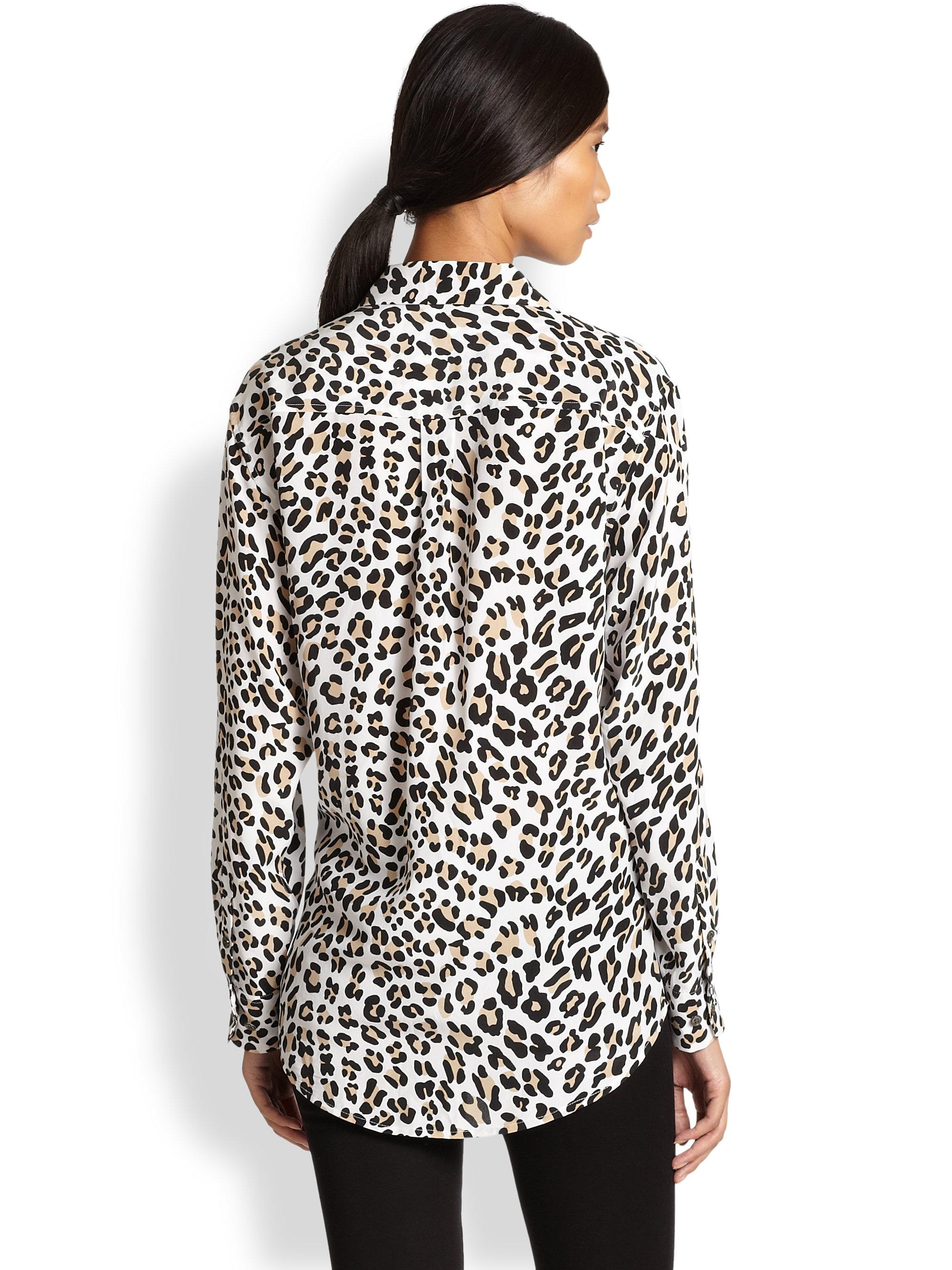 Equipment Signature Silk Leopard Print Shirt Lyst
