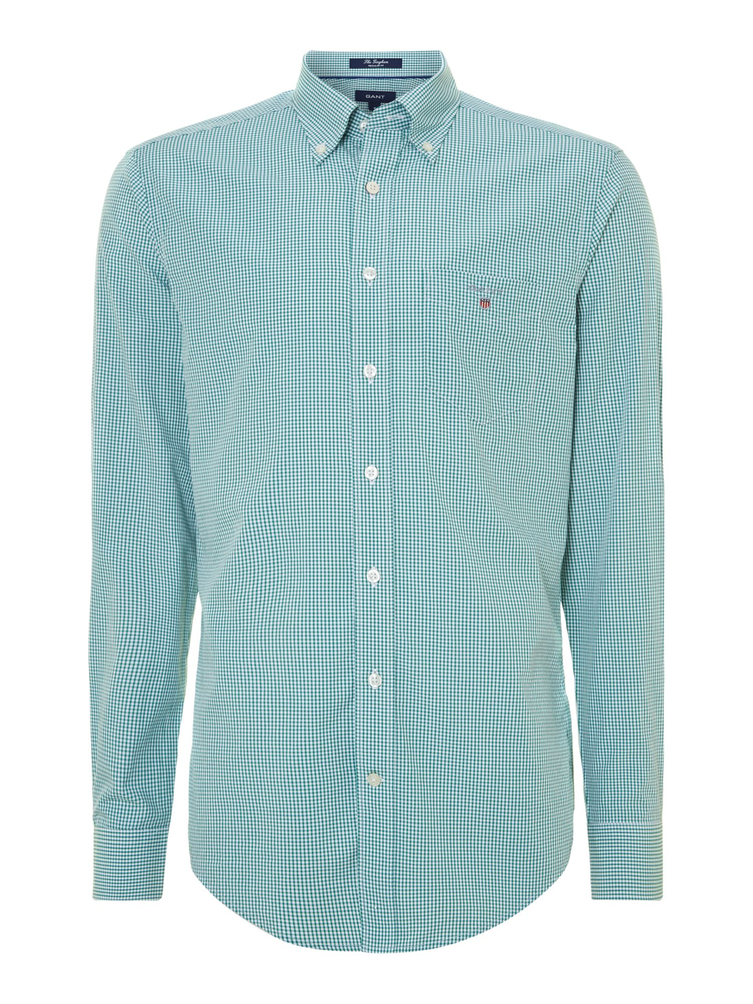 Gant Gingham Poplin Shirt In Green For Men Fern Lyst