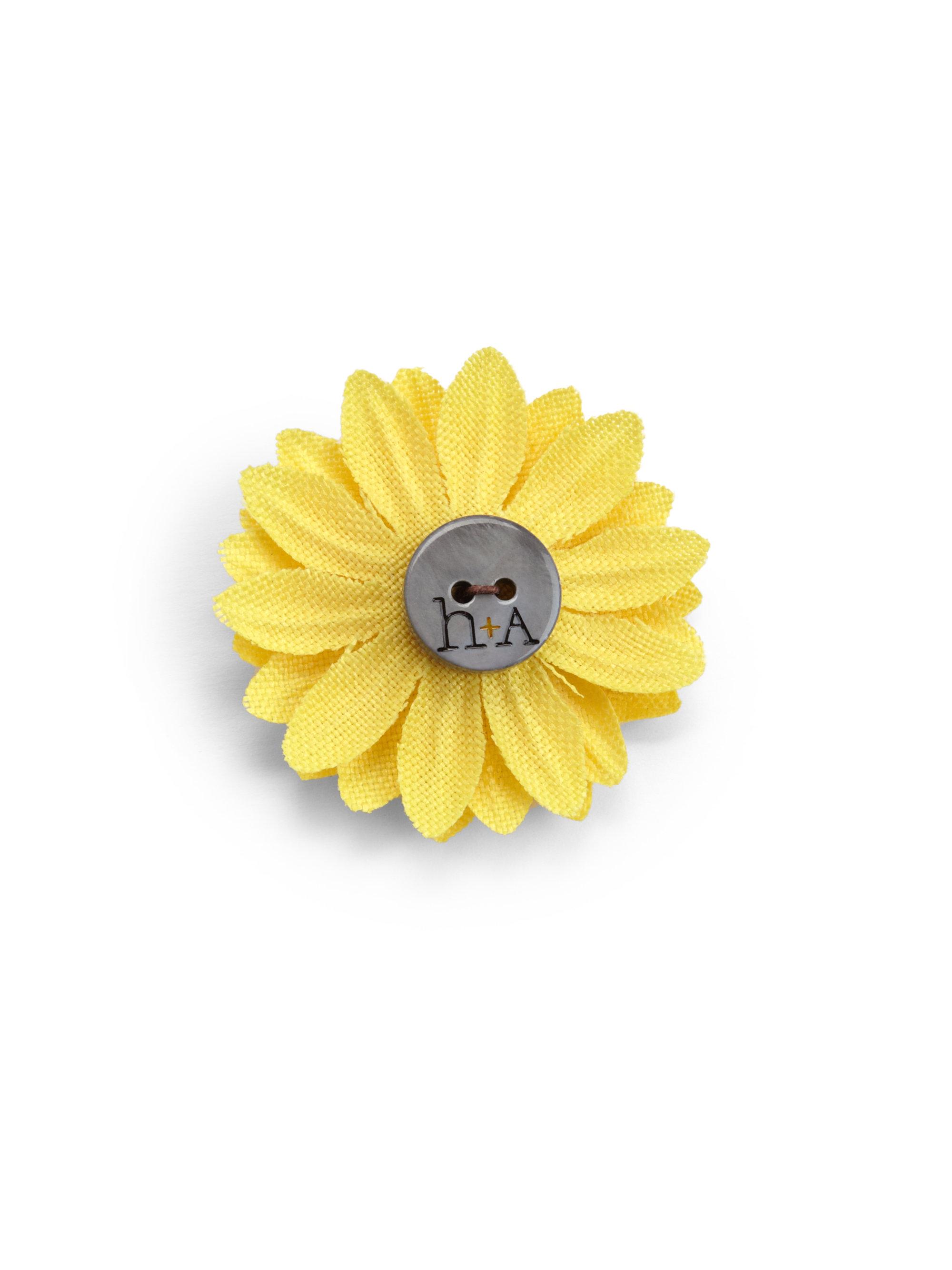 Lyst Hook Albert Sunflower Lapel Flower Pin In Yellow