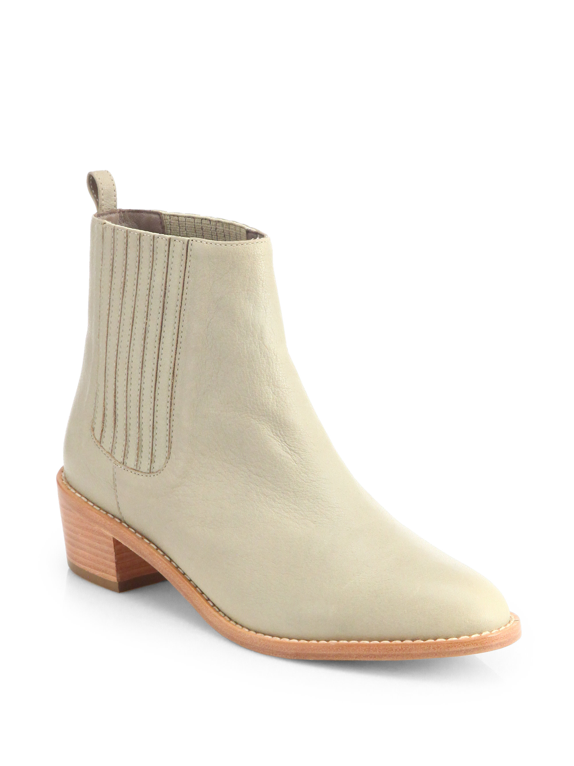 loeffler randall fitz leather chelsea boots in beige black lyst. Black Bedroom Furniture Sets. Home Design Ideas