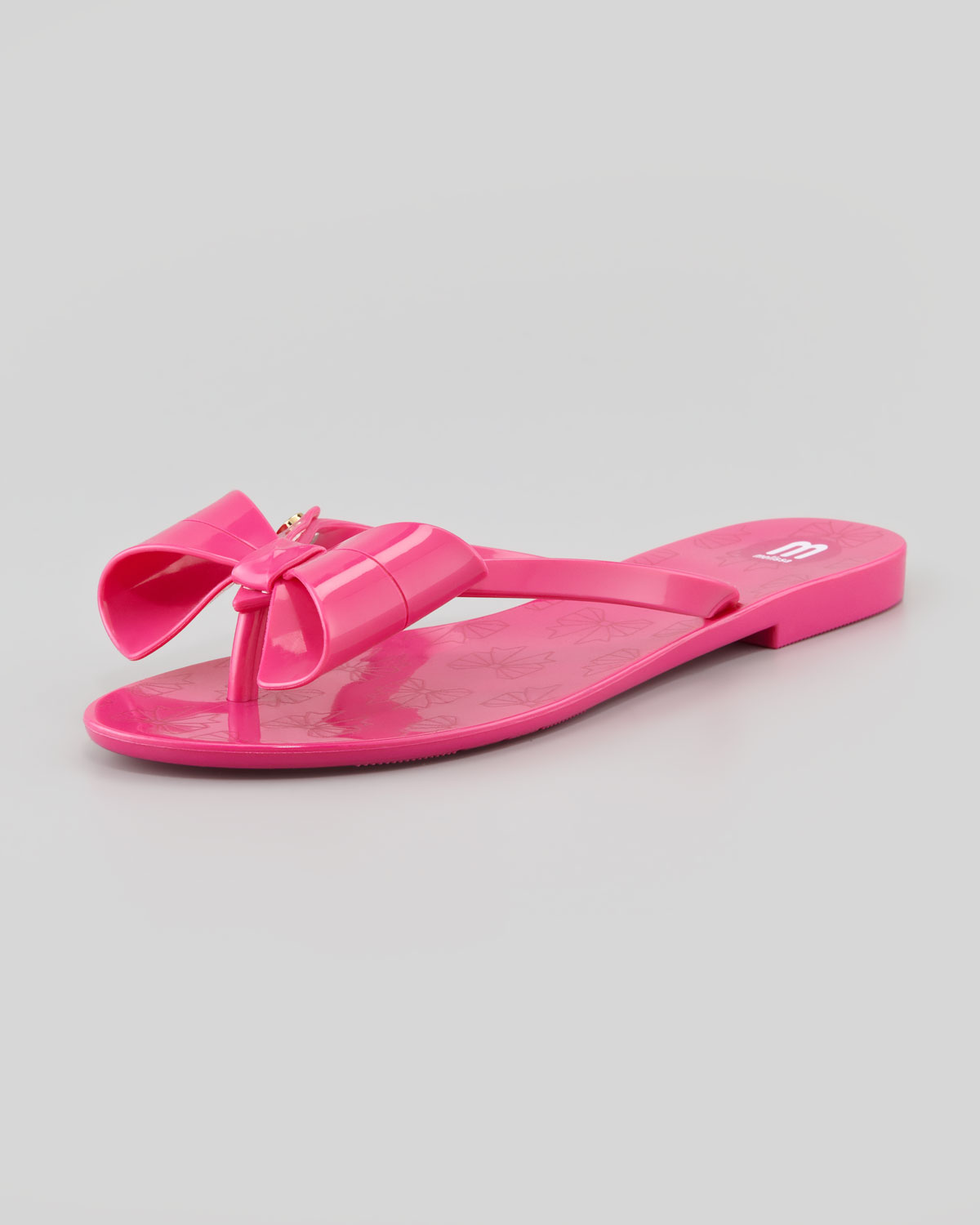 6a34f53c784a21 Lyst - Melissa Harmonic Ii Jelly Bow Thong Sandal in Pink