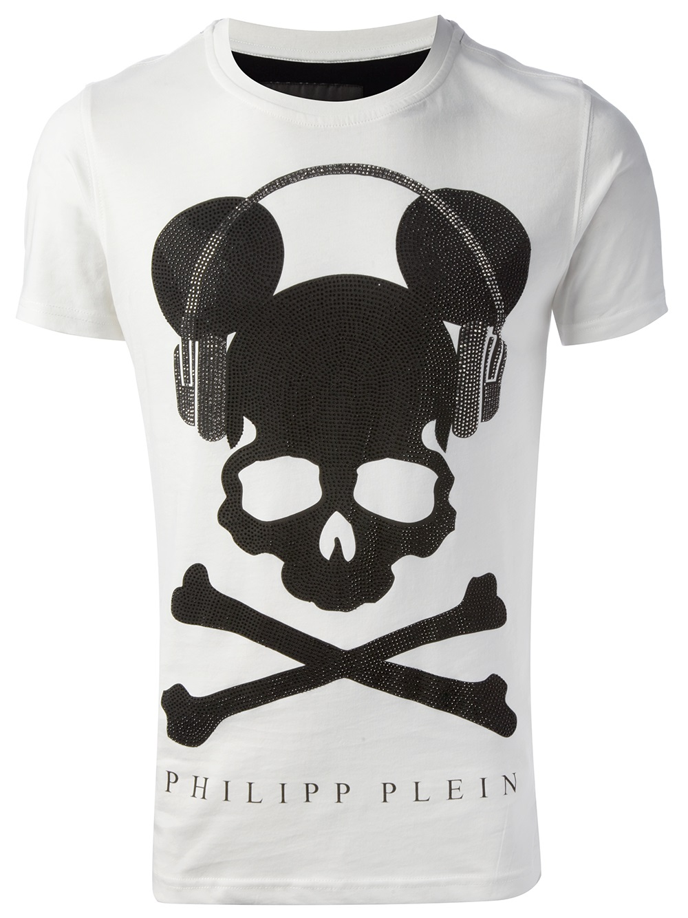 philipp plein skull print tshirt in white for men lyst. Black Bedroom Furniture Sets. Home Design Ideas