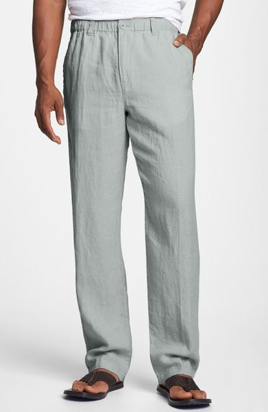 Tommy Bahama New Linen On The Beach Pants in Gray for Men (Filter Grey ...