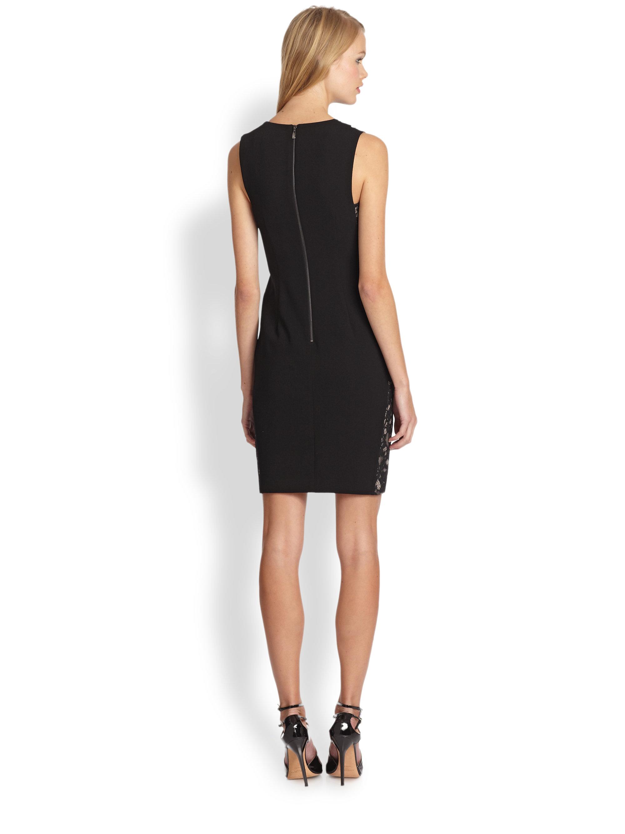 Trina turk Tappe Lace-trimmed Dress in Black - Lyst