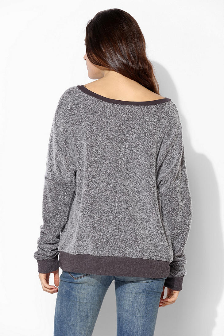 Urban outfitters Project Social T City Fuzzy Pullover Sweatshirt ...