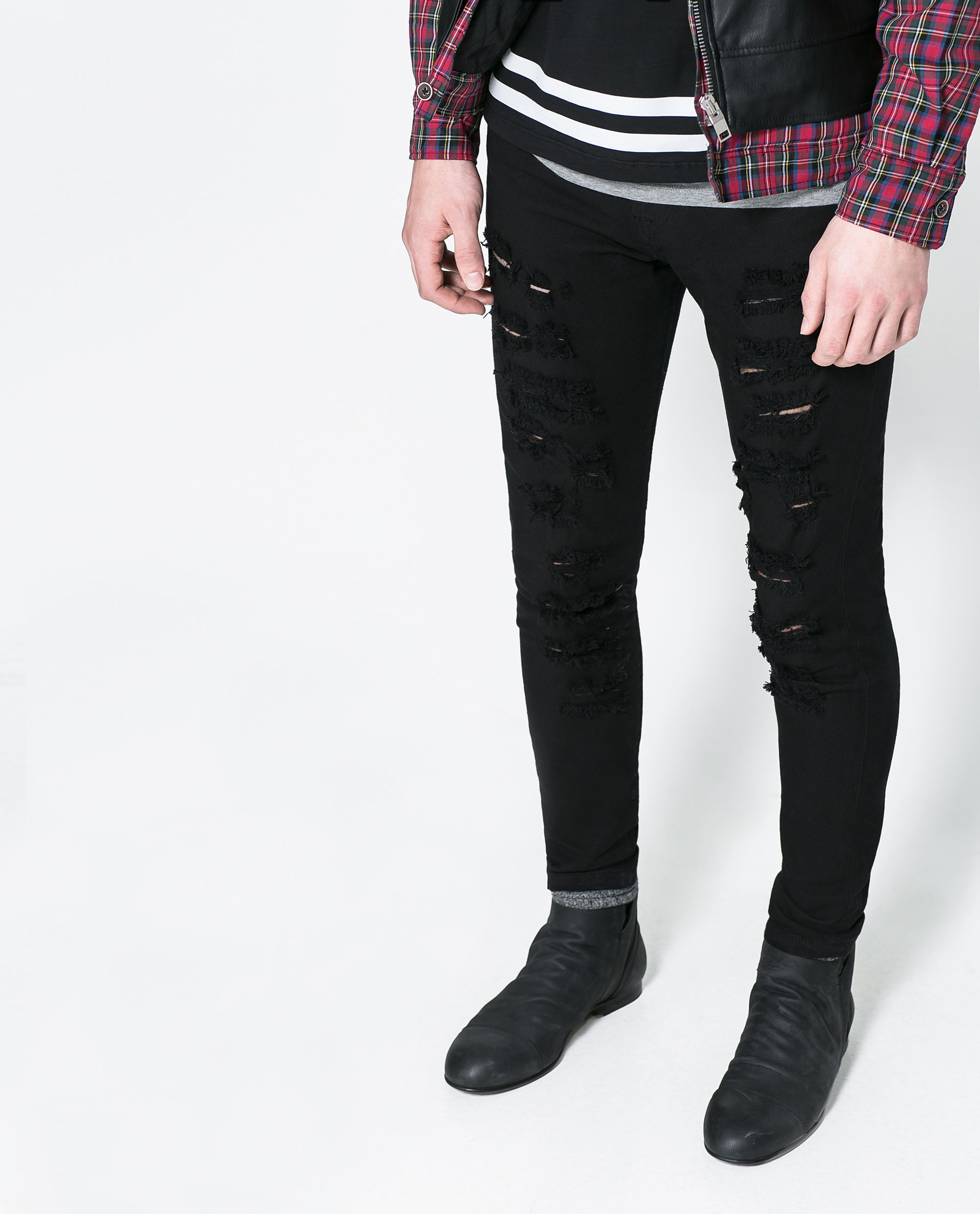 Cheap jean jacket for men, Buy Quality men jean directly from China men leather jeans Suppliers: New Black Ripped Jeans Men With Holes Denim Super Skinny Famous Designer Brand Slim Fit Jean Pants Scratched Biker Jeans Enjoy Free Shipping Worldwide! Limited Time Sale Easy Return/5().