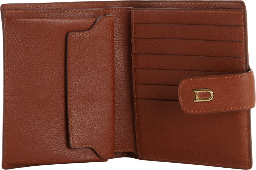 Delvaux Couronne Half Wallet In Brown Lyst