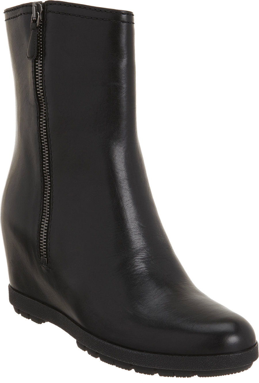 prada linea rossa wedge ankle boot in black lyst