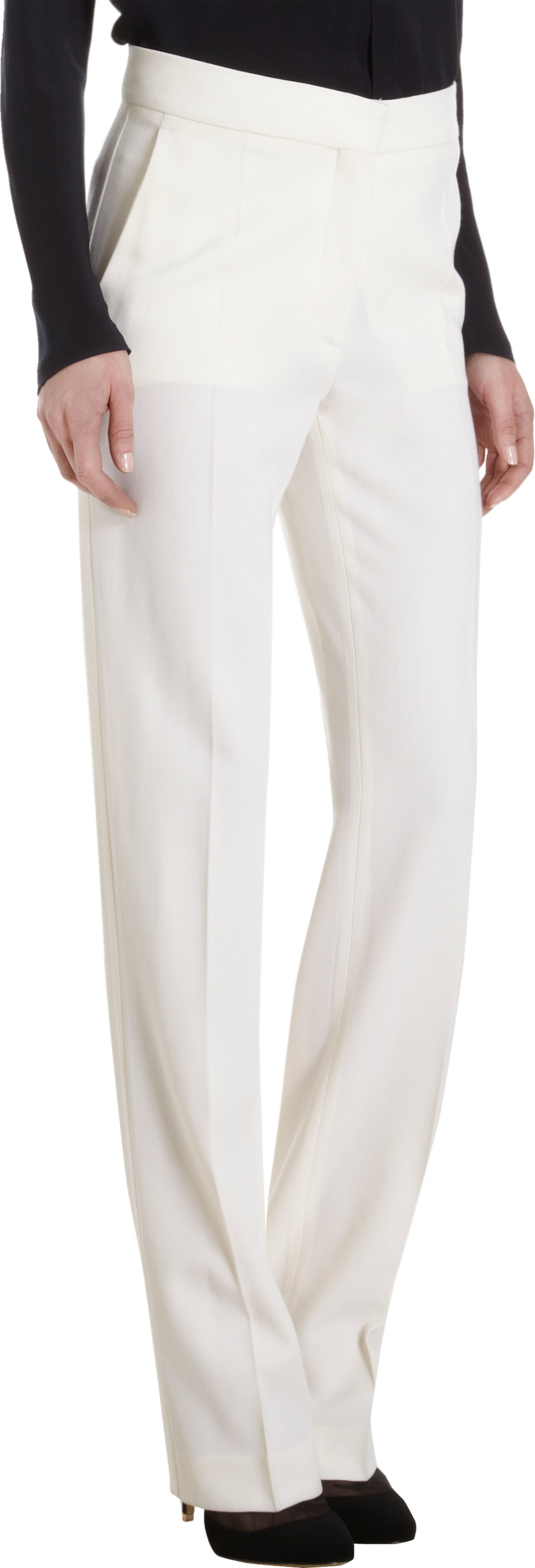 Outlet Locations Sale Online straight-leg trousers - White Stella McCartney Clearance Cheapest Price Sale Cheap Online Best Wholesale Cheap Online JLsW10mxc