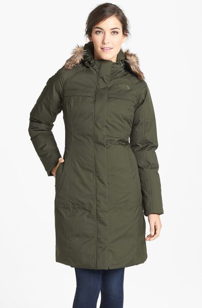 the north face arctic waterproof down parka in green fig. Black Bedroom Furniture Sets. Home Design Ideas