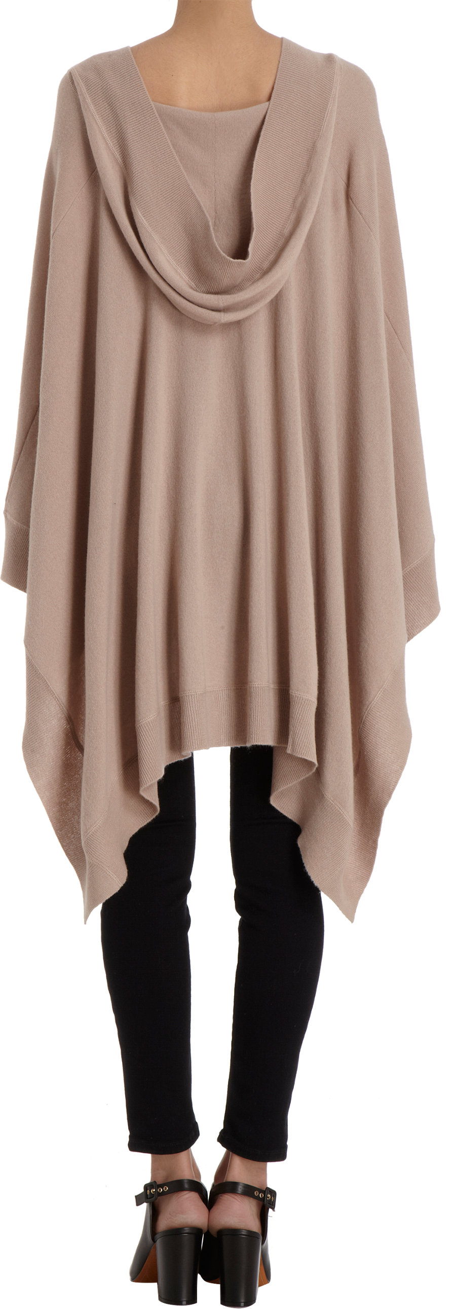 Tomas Maier Hooded Poncho Sweater In Brown Lyst