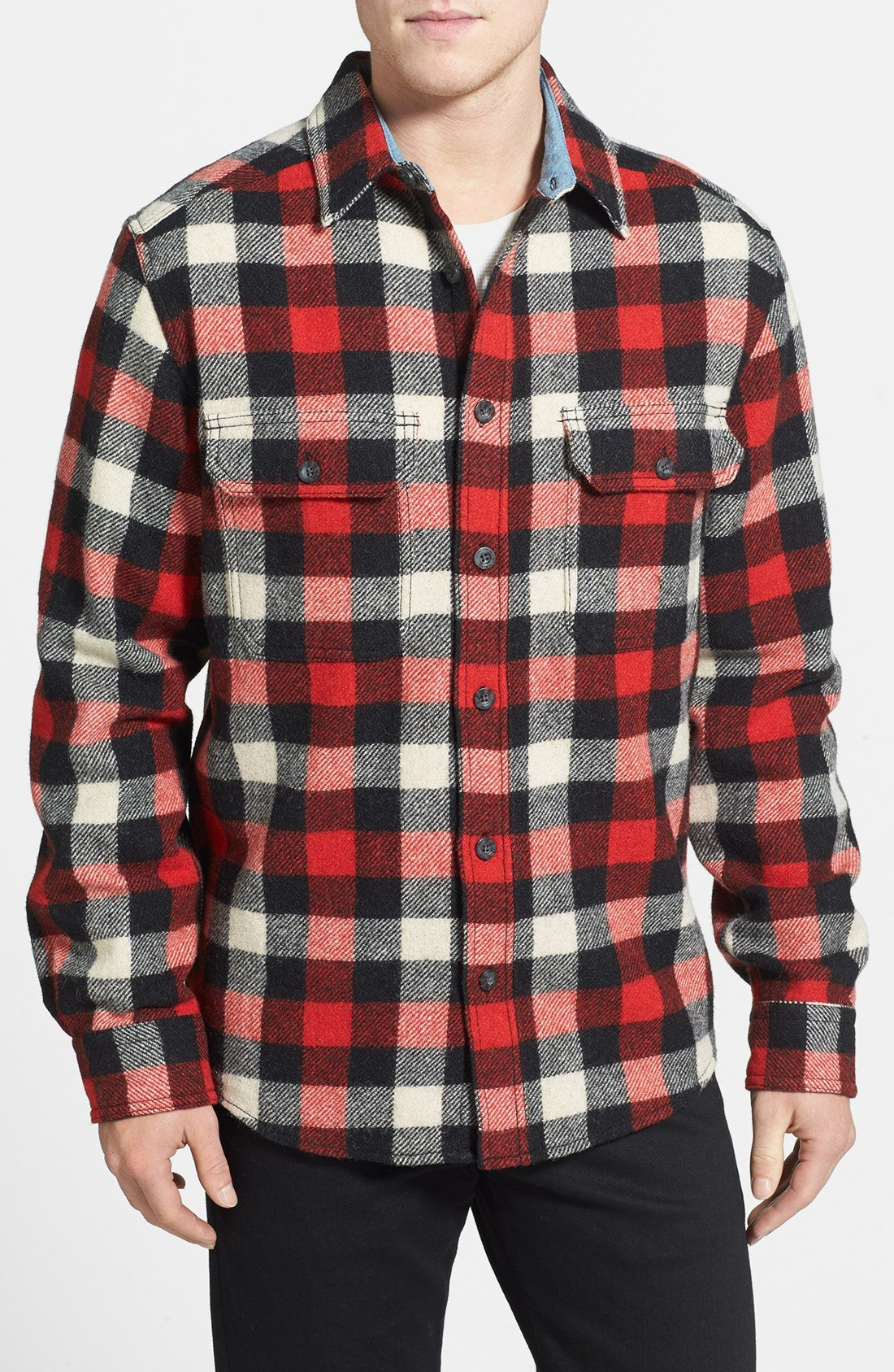 woolrich long sleeve oxbow bend flannel woven shirt in