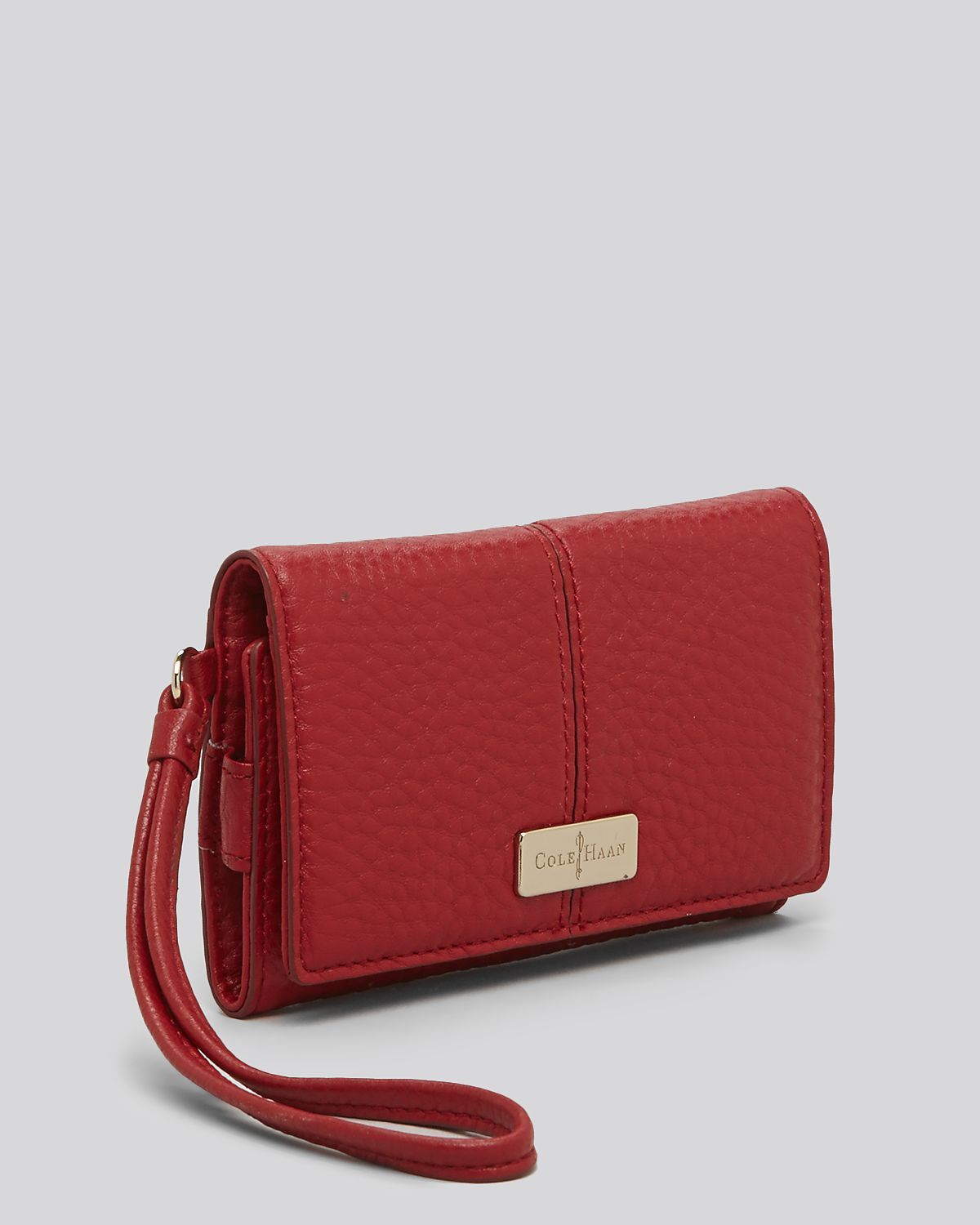ebd41ae190f Lyst - Cole Haan Wallet Tech Snap in Red