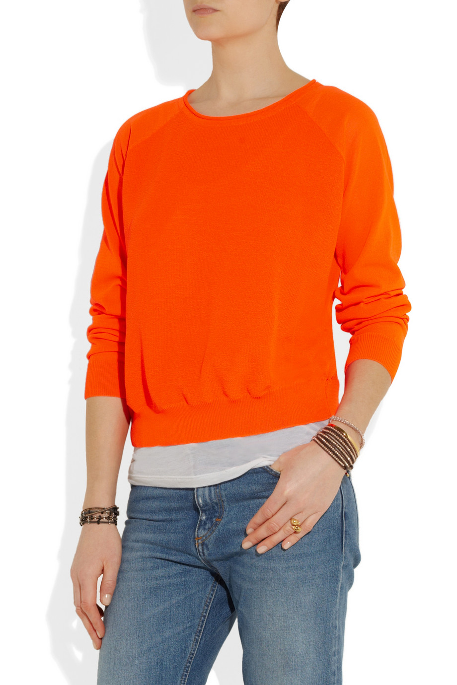 Dagmar Clem Neon Knitted Sweater in Orange | Lyst