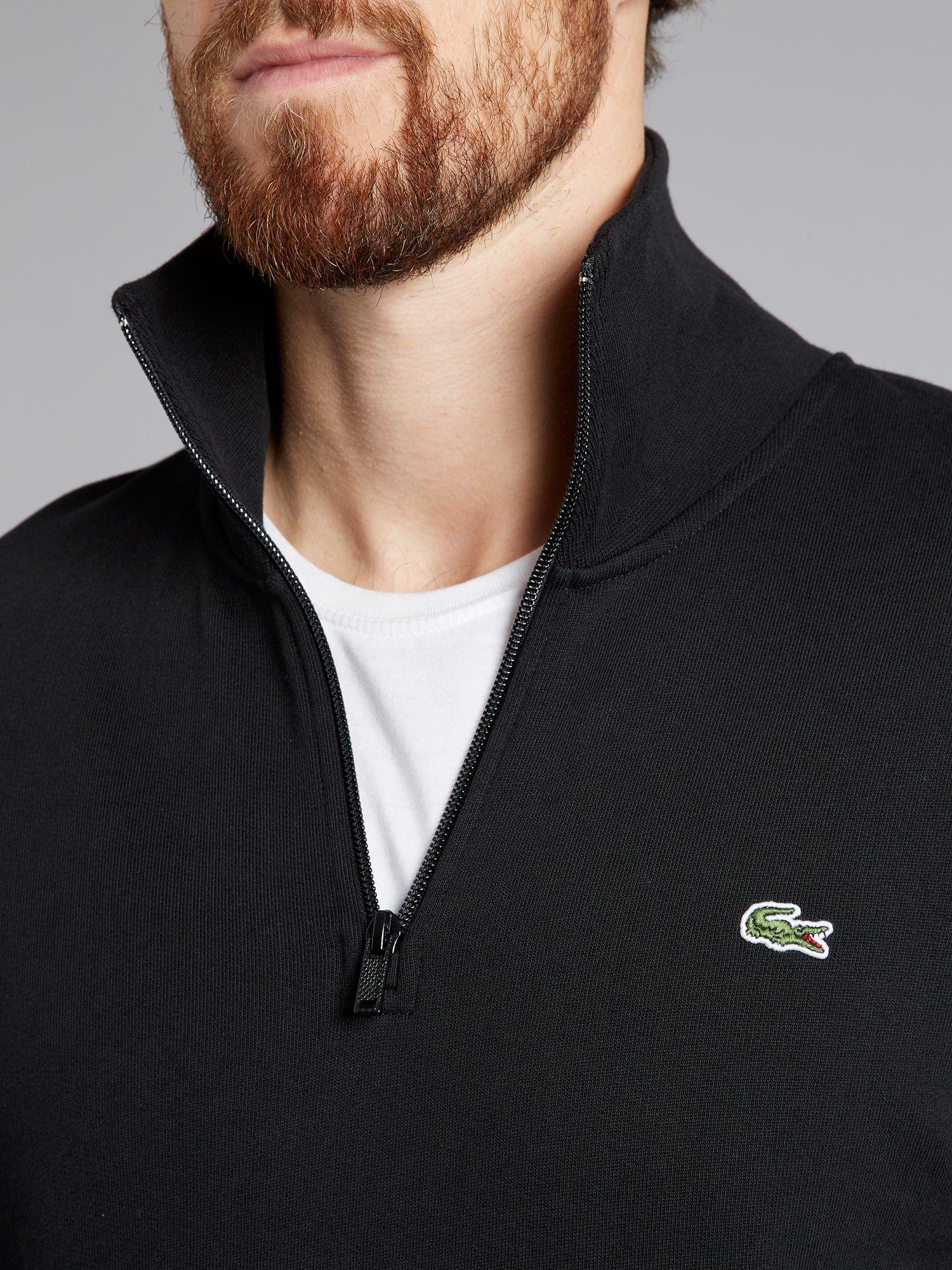 Lacoste Cotton Cashmere Quarter Zip Sweater English