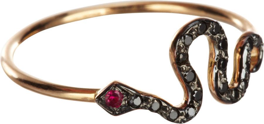 Cathy Waterman Black Diamond Ring