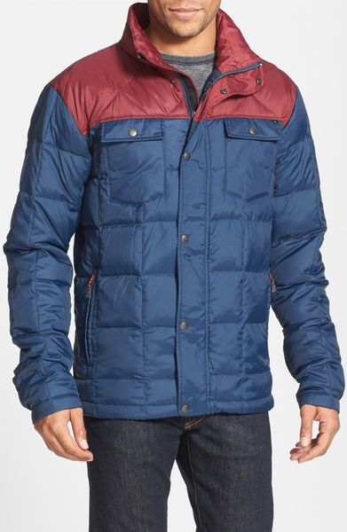 Quiksilver Ghost Tree Ripstop Down Quilted Jacket In Blue For Men