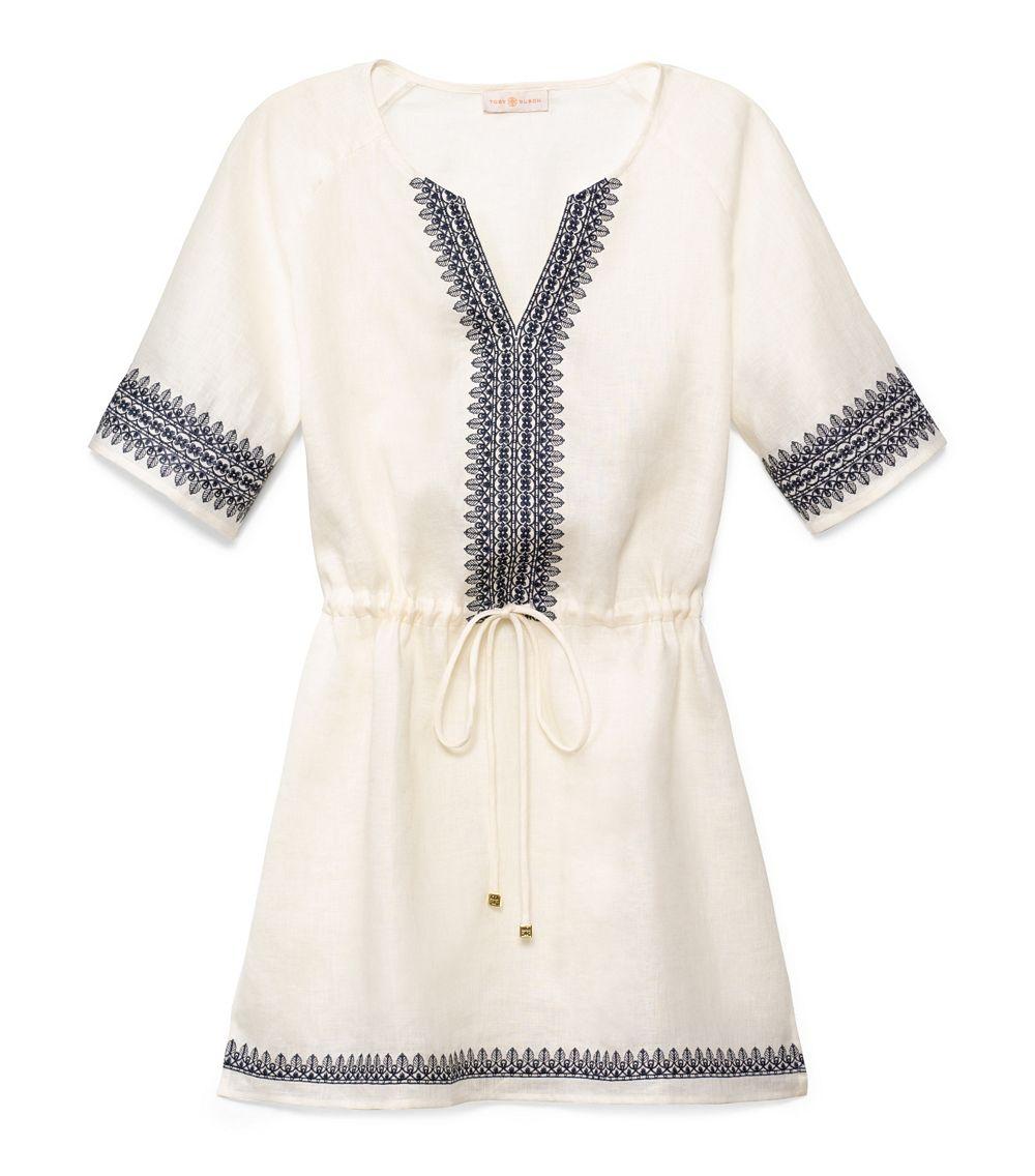 13c4dbf994f Lyst - Tory Burch Skye Dress in White