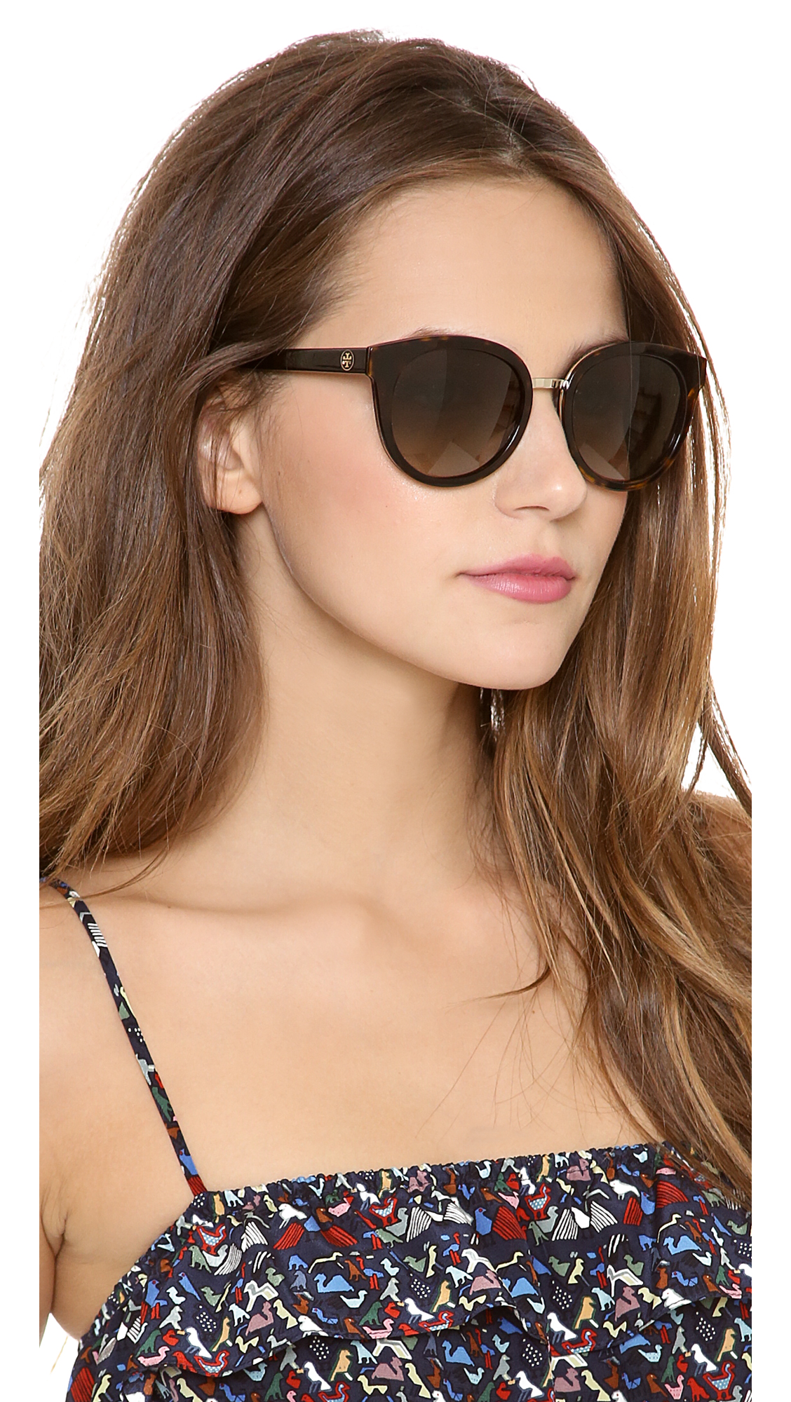 3898e3bf77 Lyst - Tory Burch Eclectic Sunglasses - Tortoise Brown Gradient in Brown
