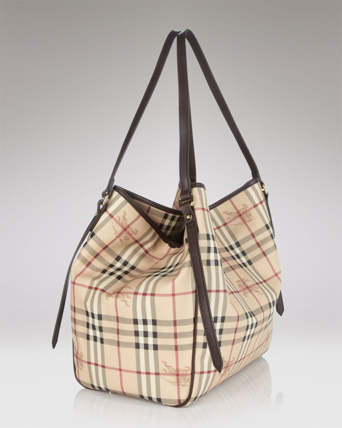 80263ada9597 Lyst - Burberry Tote Haymarket Colours Small Canterbury in White