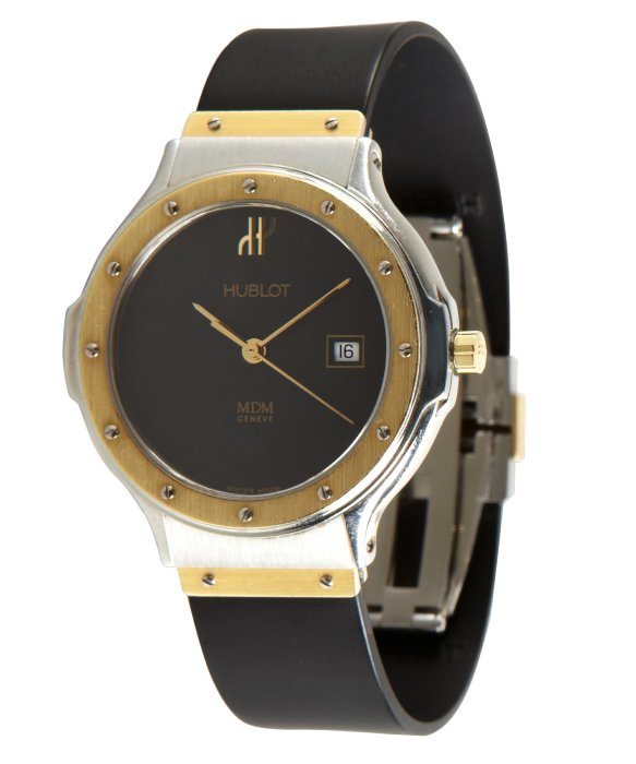 Lyst Hublot Gold And Stainless Steel Rubber Strap