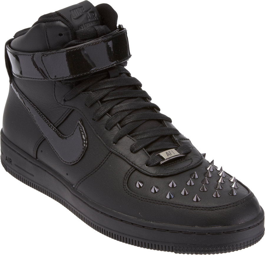 best service fe409 1b07c Nike Air Force 1 Downtown Hi Spike in Black for Men - Lyst