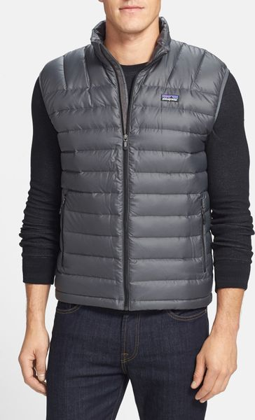 Patagonia Down Sweater Vest In Gray For Men Forge Grey