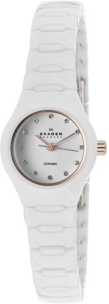 Skagen Womens White Dial White Ceramic 816xswxrc1 Watch In