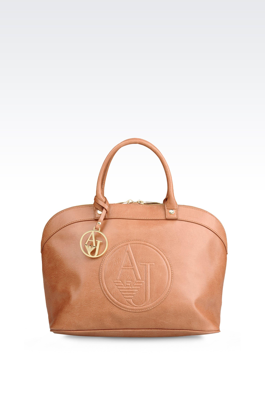 Lyst - Armani Jeans Vintage Style Eco Leather Bugatti Bag in Brown 7f44e7529216a