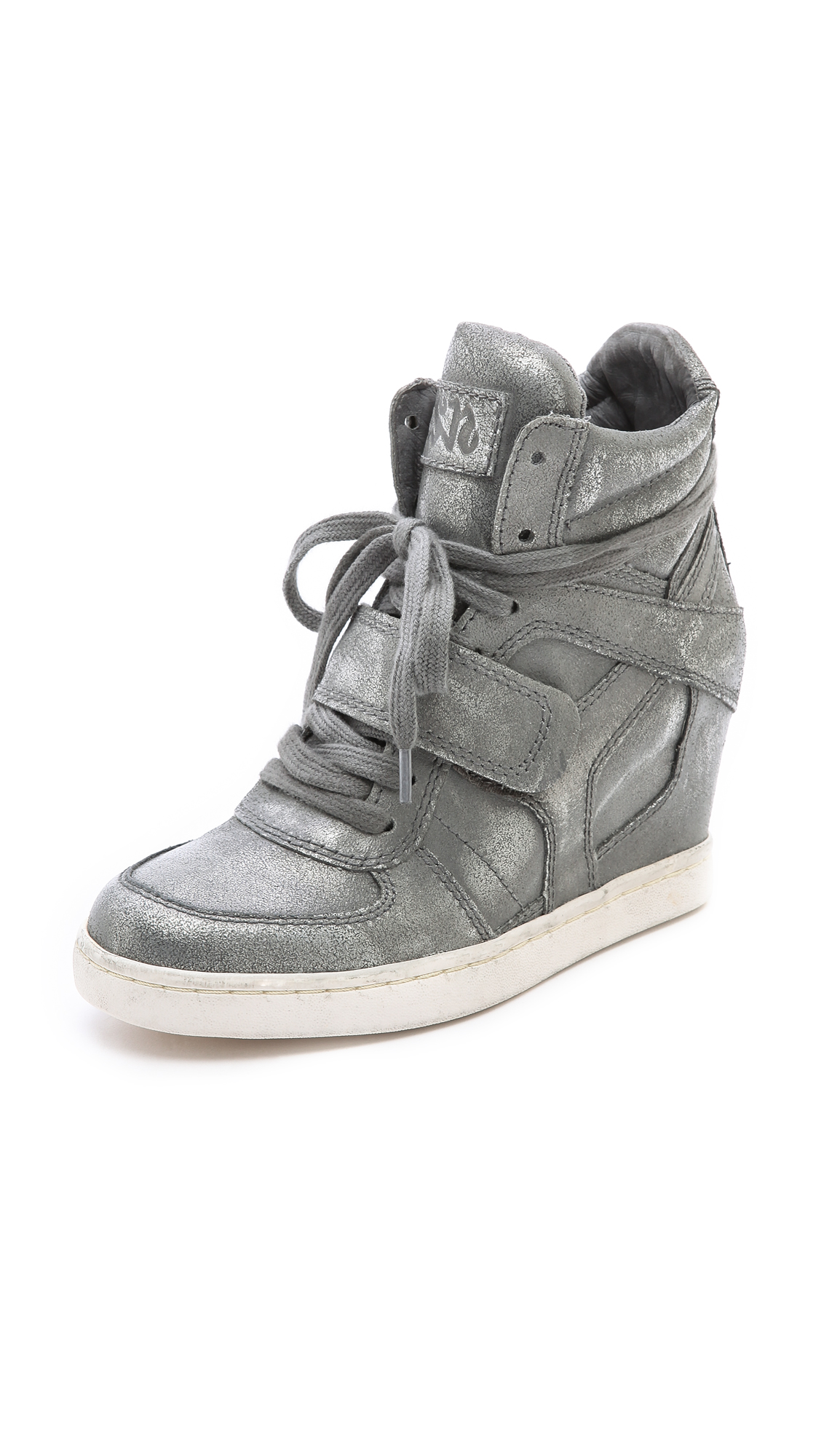 Ash Cool Ter Wedge Sneakers In Silver Silver Gun Lyst
