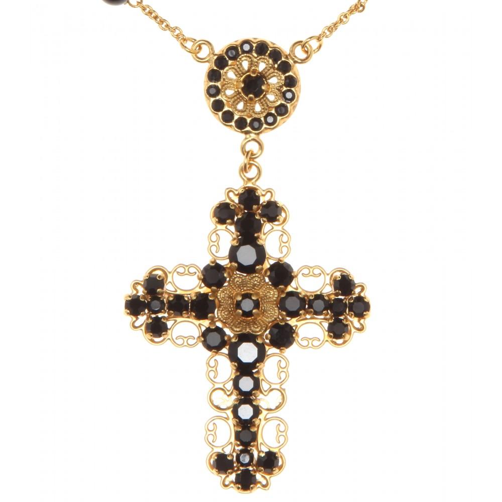 Rose and crystal-embellished necklace Dolce & Gabbana aDOkZ4bR