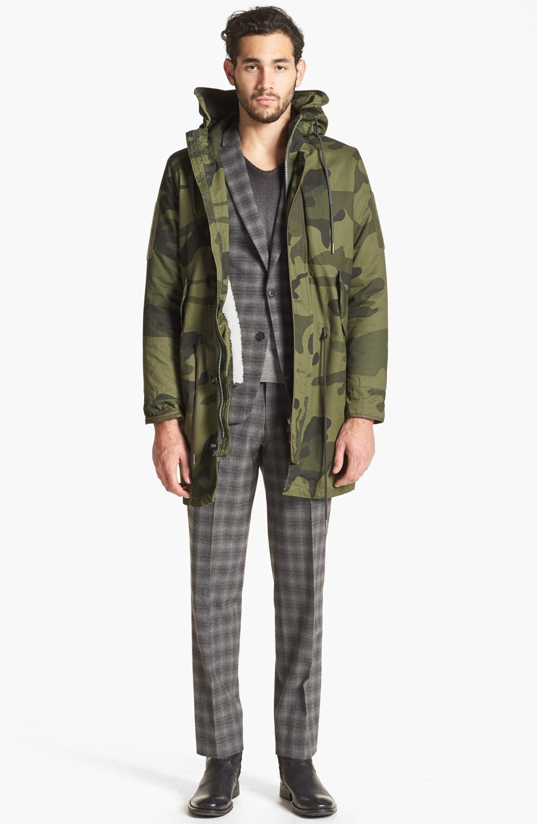 g star raw polar hdd camo fishtail parka in natural for. Black Bedroom Furniture Sets. Home Design Ideas