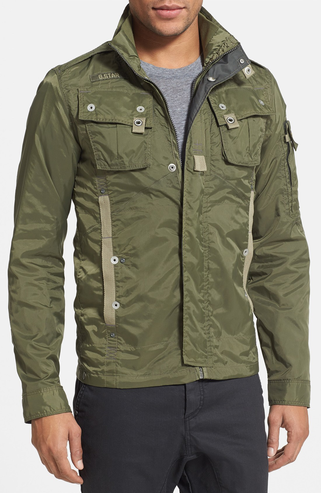 g star raw recolite lightweight military jacket in green. Black Bedroom Furniture Sets. Home Design Ideas
