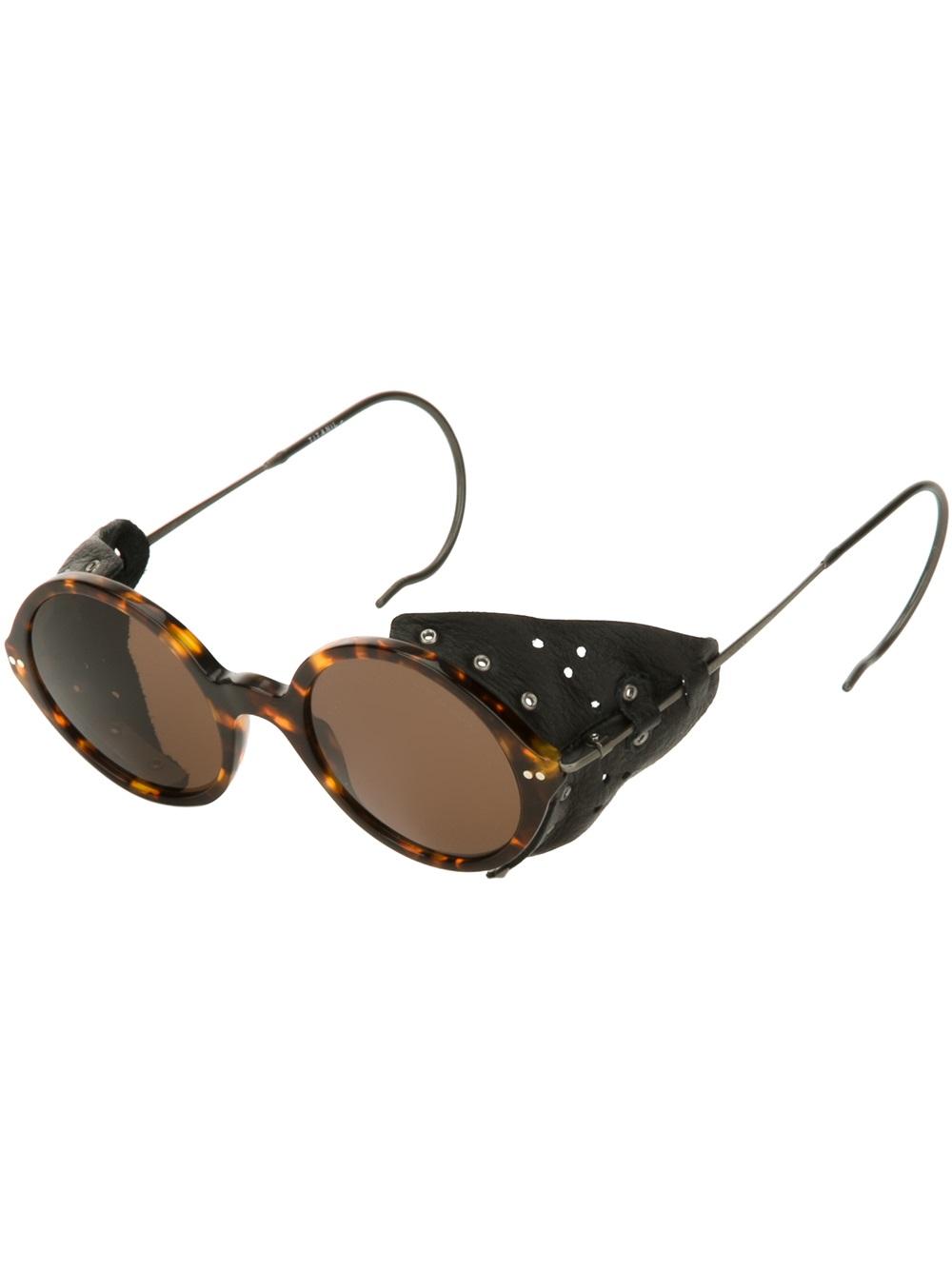 Giorgio Armani Glasses Frame Mens : Giorgio armani Round Frame Sunglasses in Brown for Men Lyst