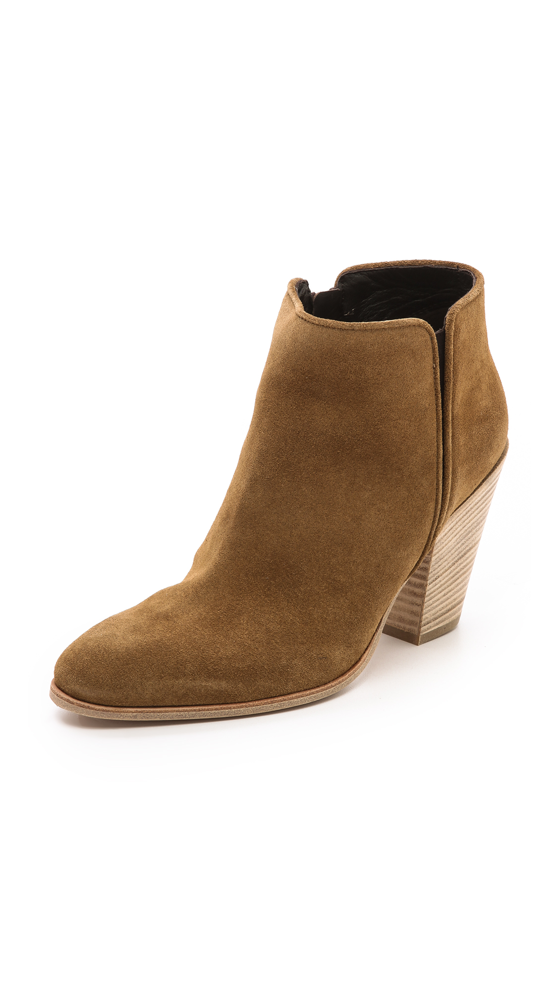 Giuseppe Zanotti Suede Booties In Brown Lyst