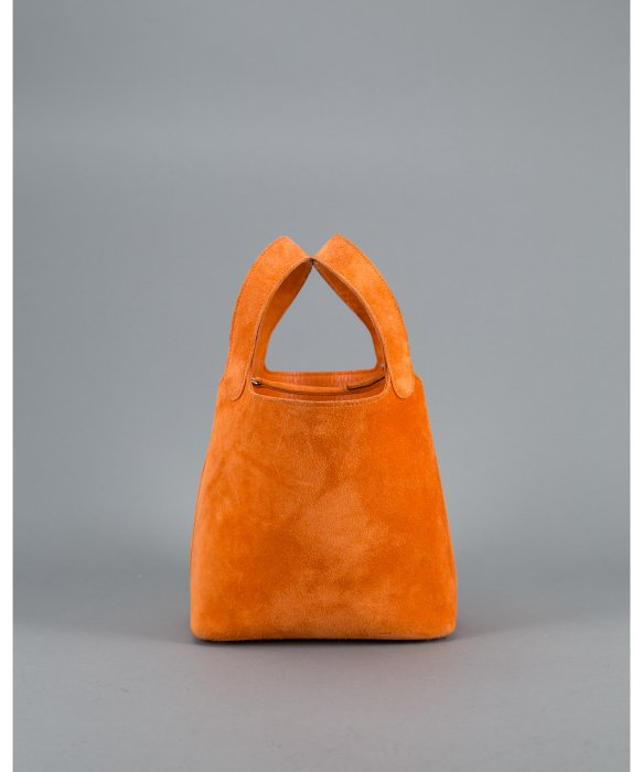 Herm¨¨s Preowned Orange Suede Picotin Tote in Orange | Lyst