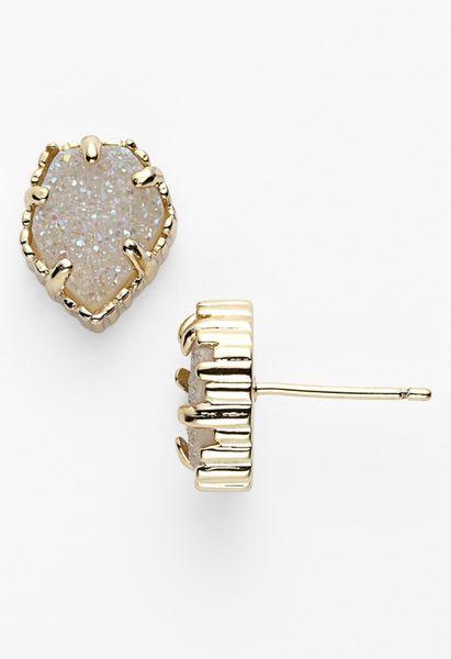 Kendra Scott Tessa Stone Stud Earrings In Gold Iridescent