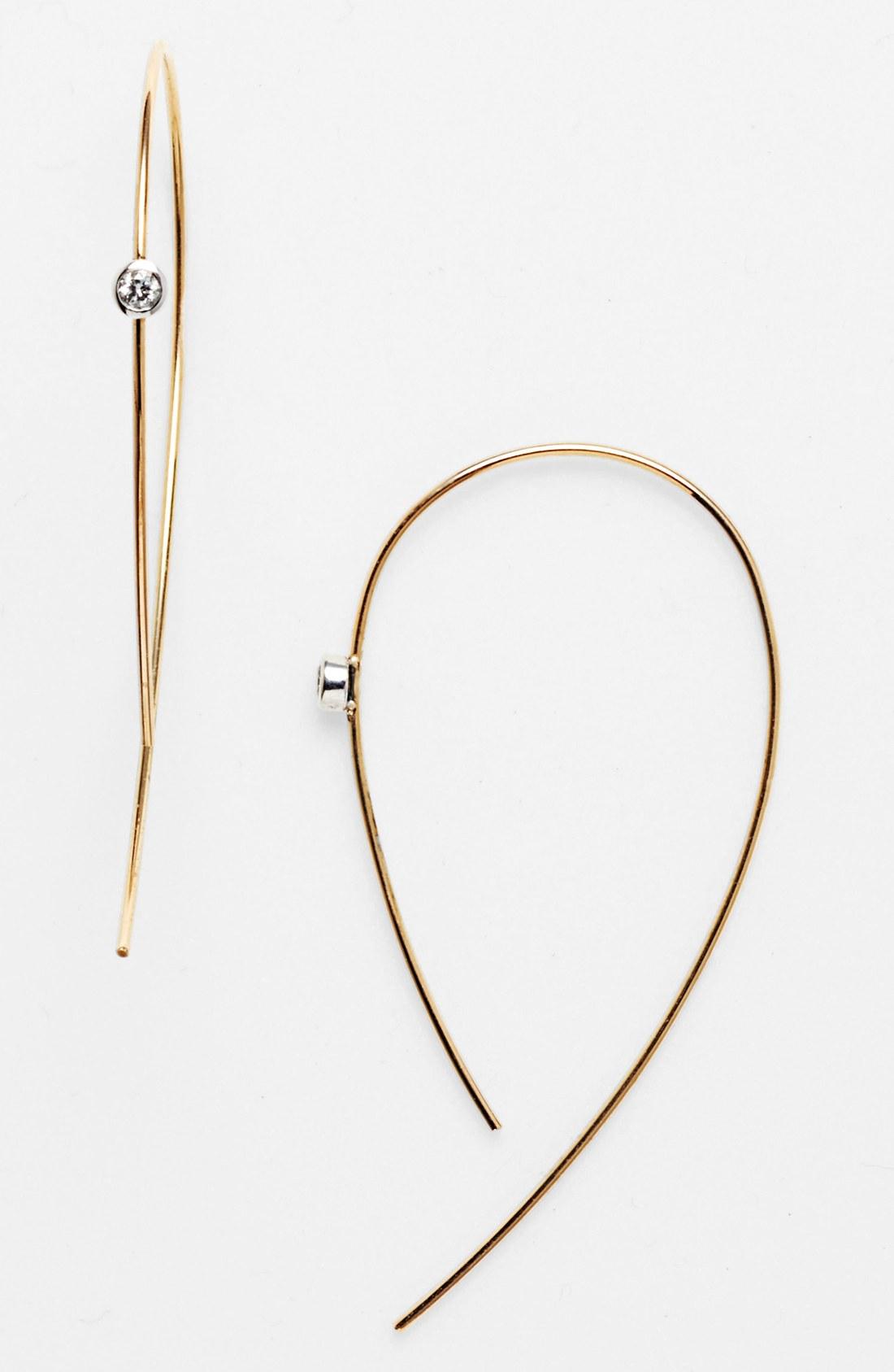 Lana Jewelry Spellbound Hooked On Hoops Diamond Hoop