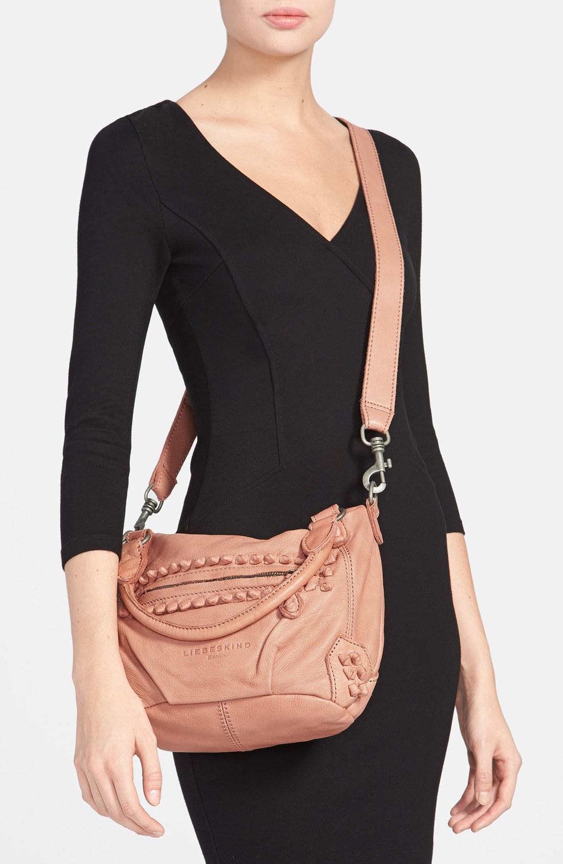liebeskind vintage knot gina leather satchel in pink lyst. Black Bedroom Furniture Sets. Home Design Ideas