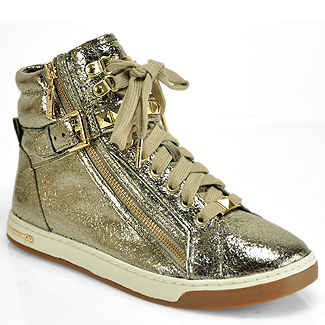 Michael Michael Kors Glam Studded Champagne High Top