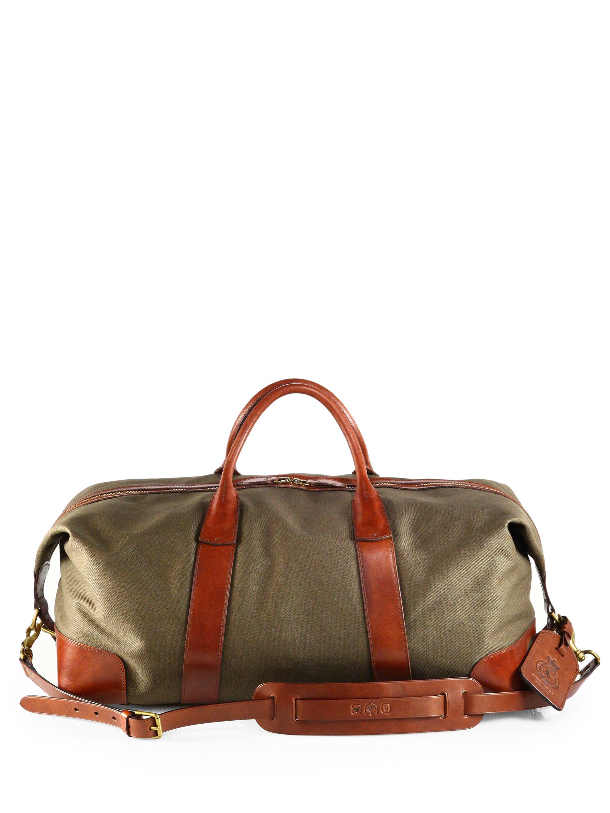 e44143b354a Lyst - Polo Ralph Lauren Waxed Twill Duffle Bag in Green for Men