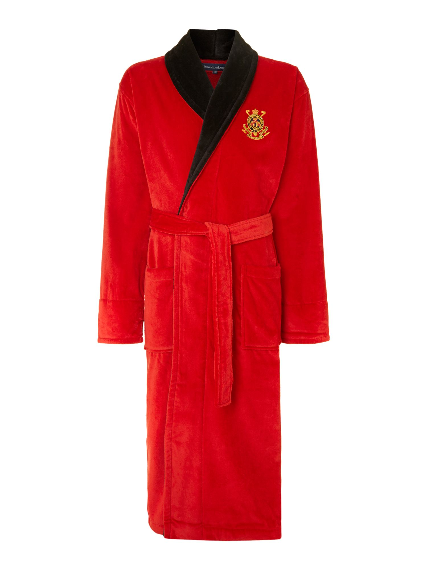 polo ralph lauren polo logo robe in red for men lyst. Black Bedroom Furniture Sets. Home Design Ideas