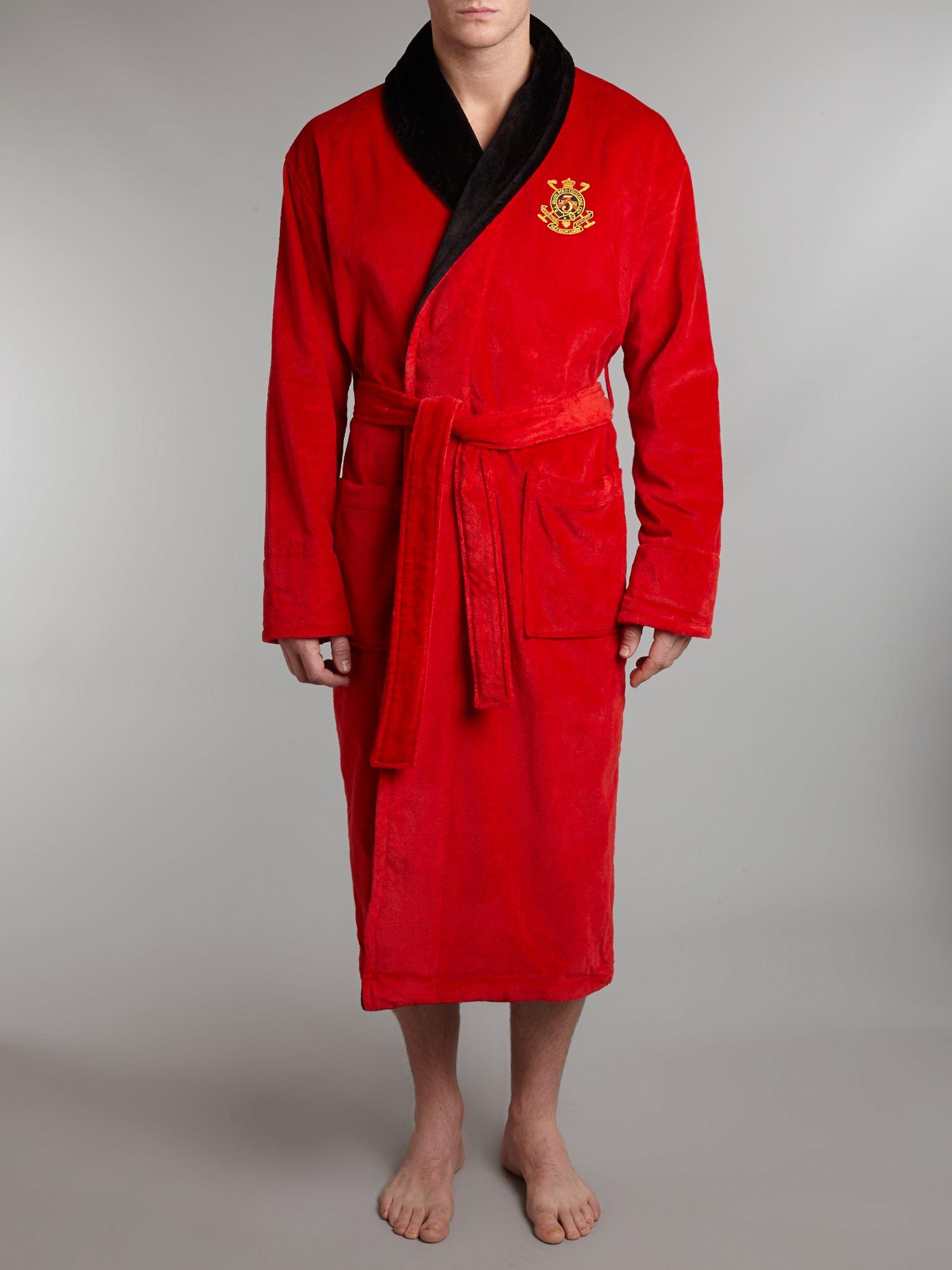 Polo Ralph Lauren Fleece Shawl Collar Robe in Red for Men
