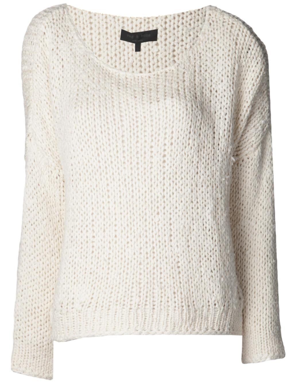Rag & bone Krista Pullover Sweater in White | Lyst
