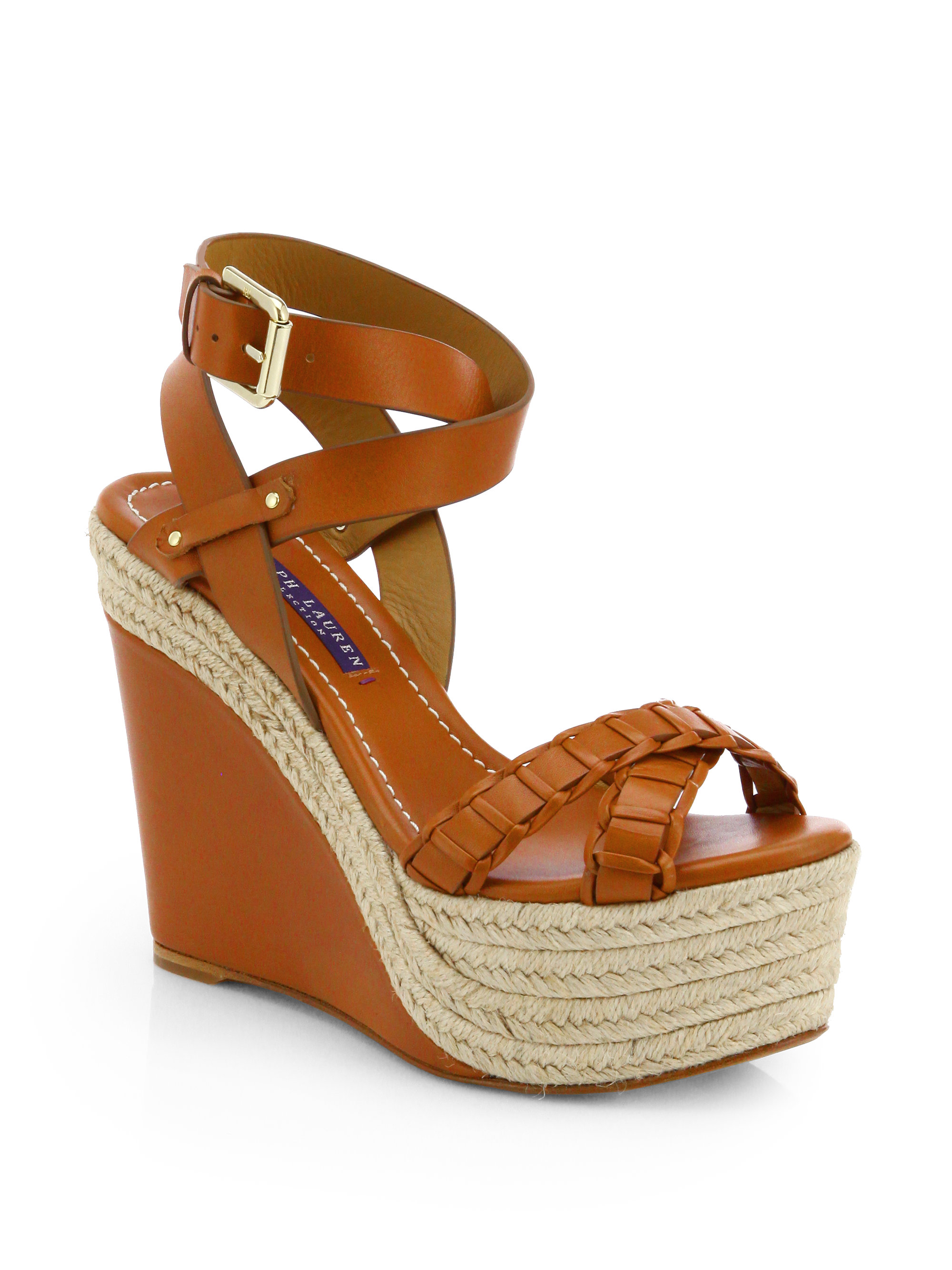 Ralph Lauren Collection Espadrille Wedge Sandals clearance collections x0kkLB6j1