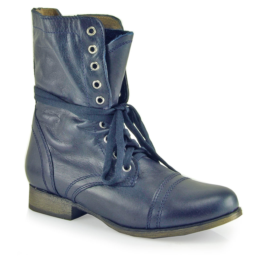 Steve madden Troopa - Combat Boot in Blue | Lyst